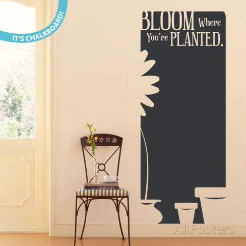 bloom-where-you-re-planted黒板ウォールステッカー・壁用シール