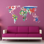 World-Map-Wall-Art-Stickers