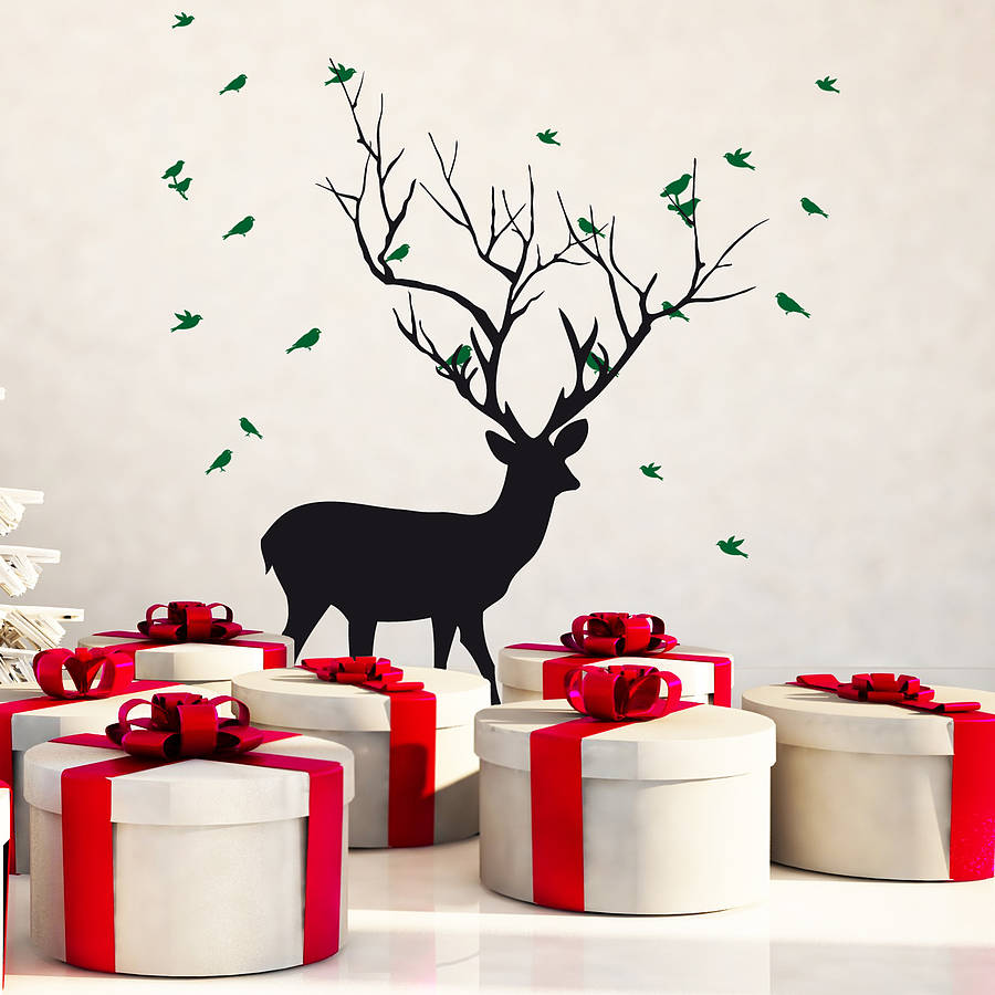 original_christmas-deer-with-birds-wall-sticker