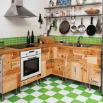 Rustic-Wood-Storage-on-Tile-Floor-inside-Diy-Small-Kitchen-with-Single-Sink-near-Gas-Stove-plus-Pans-on-Simple-Hanger-and-Bottles